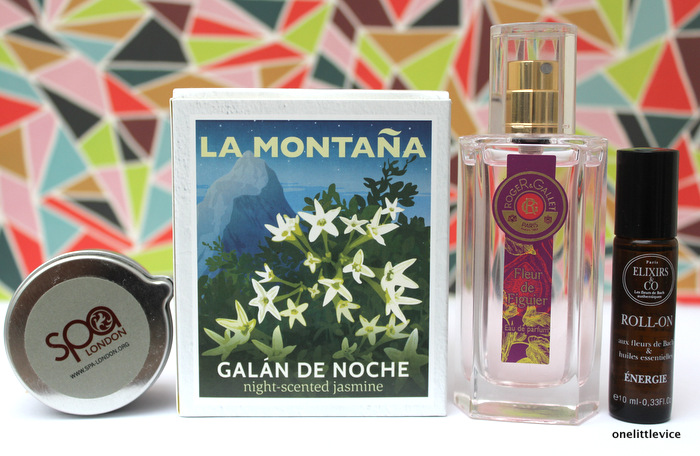 one little vice beauty blog: Roger & Gallet Fleur de Figuier, La Montana Candle, SpaLondon Candle