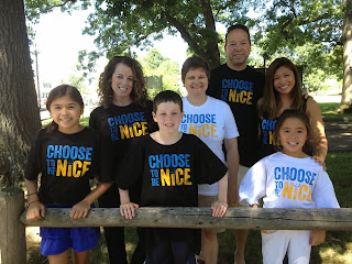 Choose to be Nice t-shirts