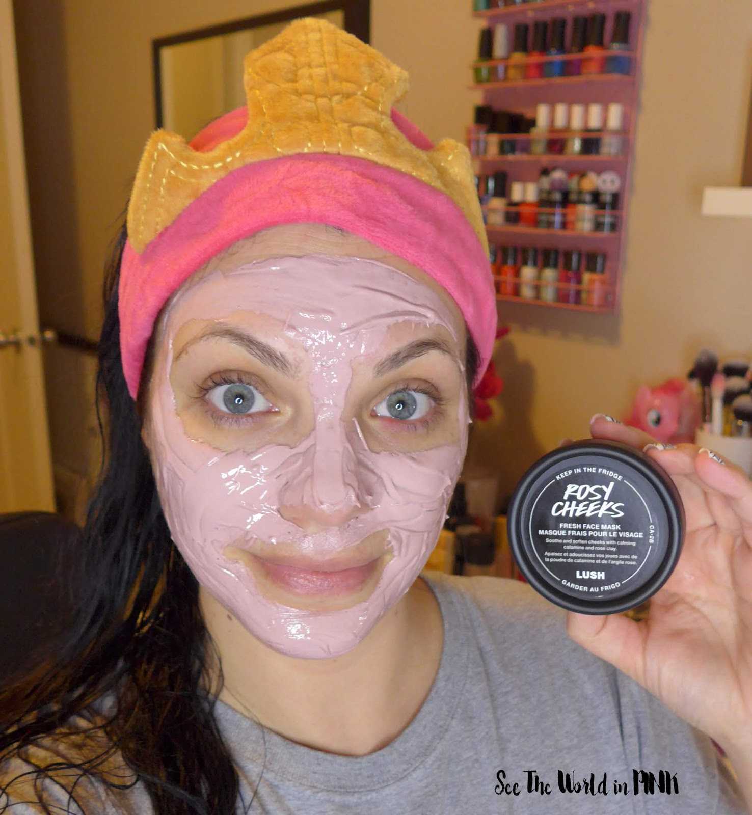 Lush Rosy Cheeks Fresh Face Mask - Try-on and Review!