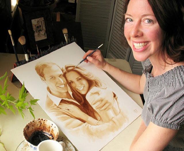 Karen Eland coffee painting ideas