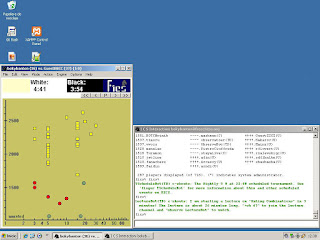 WinBoard en Windows XP conectado al ICS de freechess en 2017