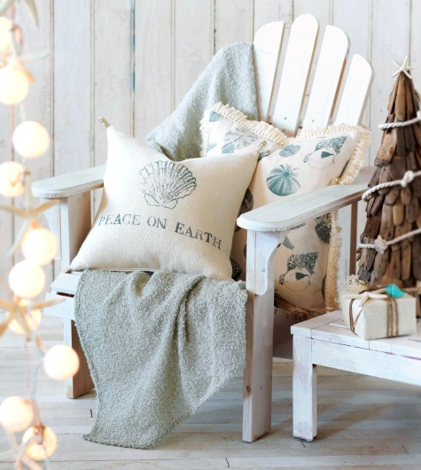 Coastal Christmas Pillows