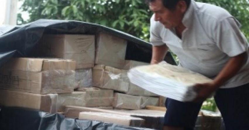 UGEL Bellavista inició distribución de materiales educativos a escuelas - DRE San Martín - www.dresanmartin.gob.pe