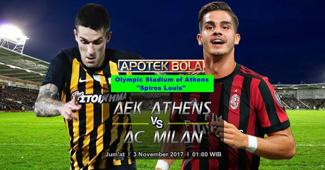 Prediksi AEK Athens vs AC Milan 3 November 2017