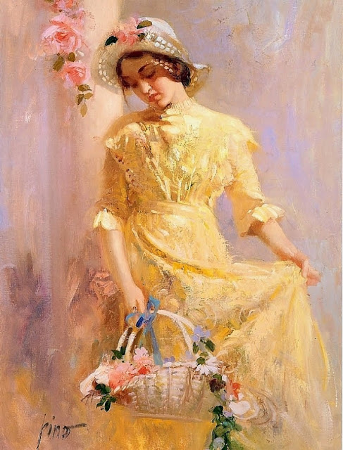 Pino Daeni - The Flower Girl