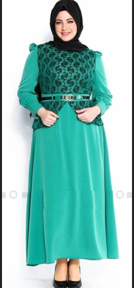 model baju gamis untuk orang gemuk dan pantas