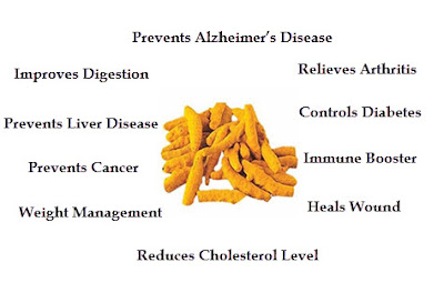 Top Health Benefits of Turmeric or curcuma longa