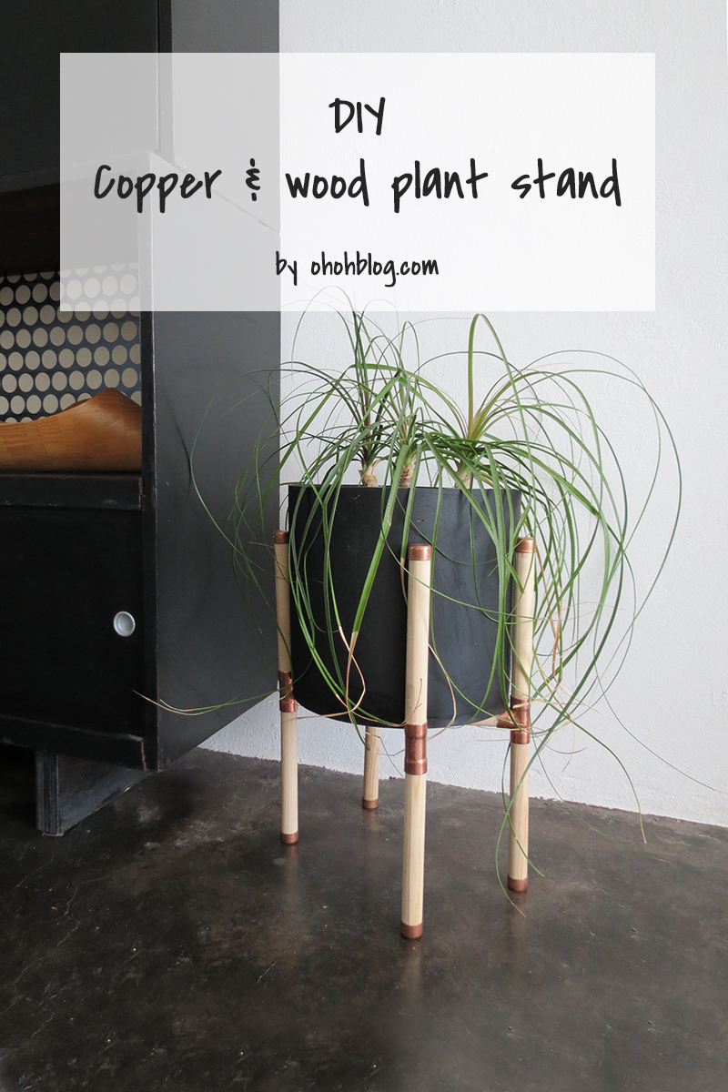 Diy Copper And Wood Plant Stand Ohoh Blog