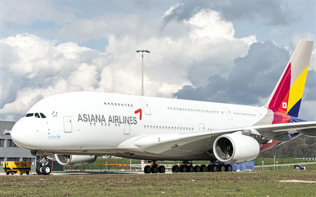 Airbus A380-800 of Asiana Airlines
