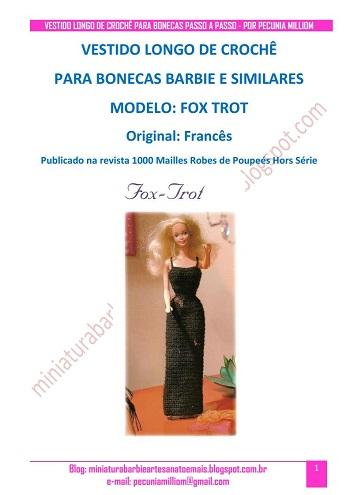 Passo a Passo do Vestido Longo Para Barbie pág. 1 Tradução de Pecunia MM