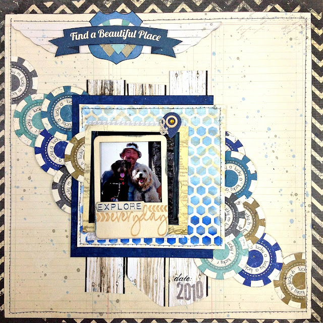 Explore Everyday Scrapbook Page Tutorial By Tracee Provis Bo Bunny Wildcard Souvenir 01