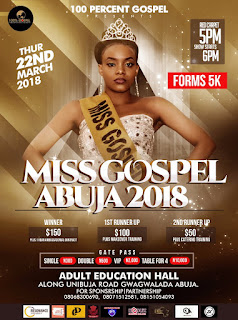 EVENT: MISS GOSPEL ABUJA 2018 |@mga2018