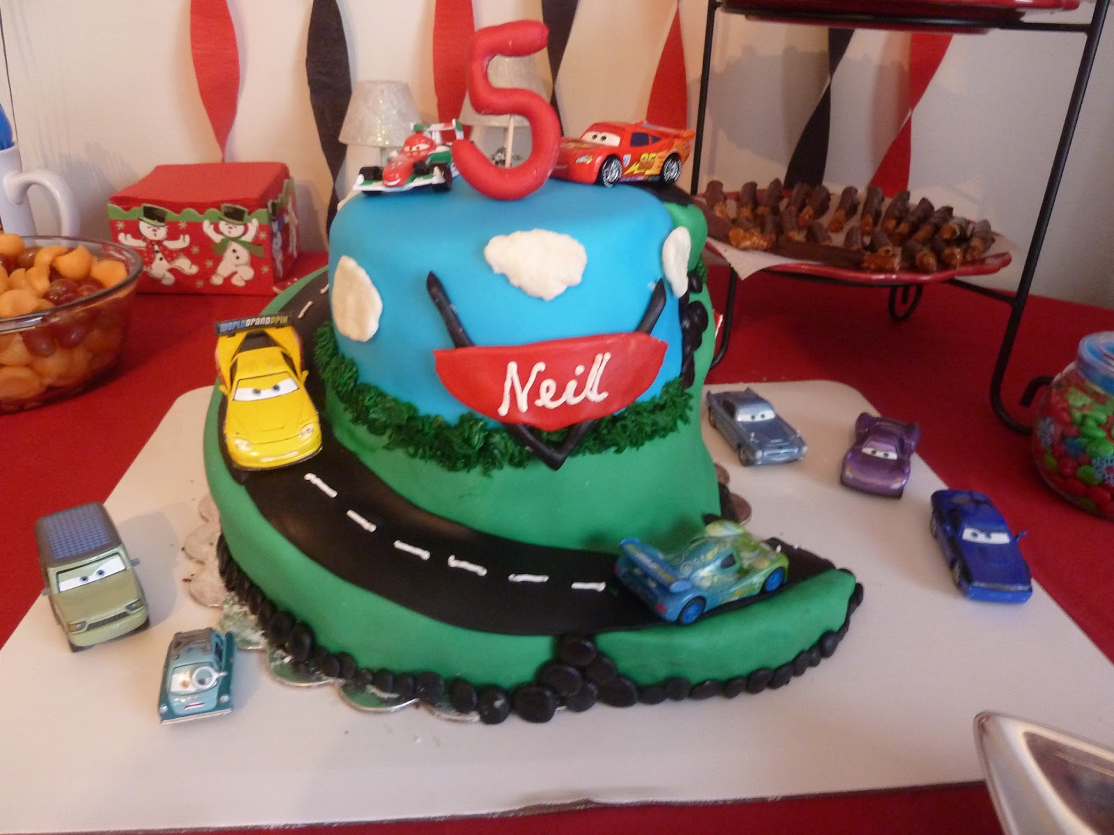 My Sons 5th Birthday And Cars Cake