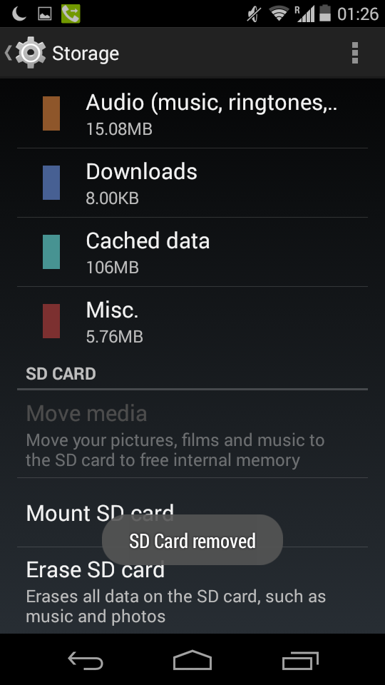 Open Source For Geeks: How to Un-mount Android SD Card ...