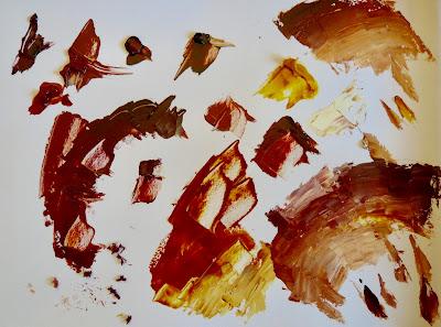 colour palette for painting a chestnut horse
