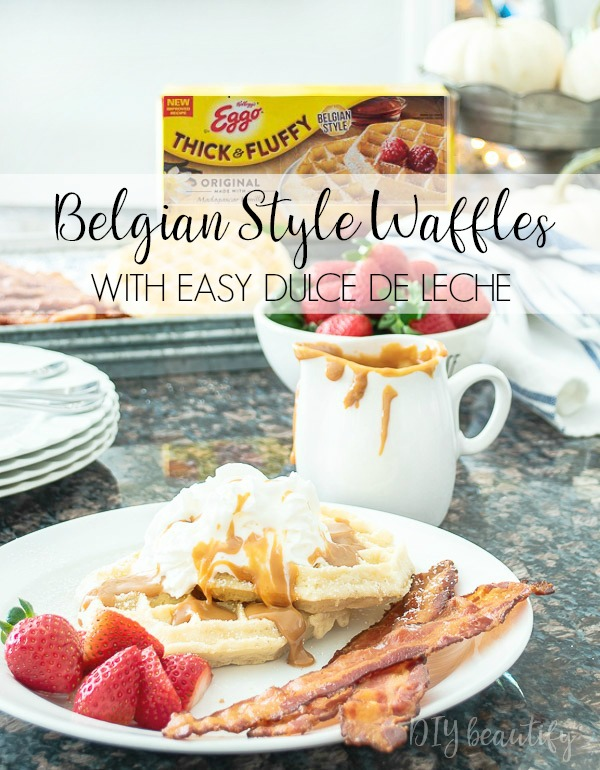 Eggo Belgian Style Thick and Fluffy Waffles with dulce de leche recipe