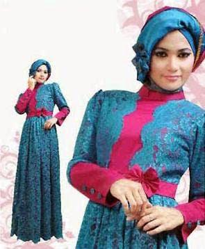 Contoh Busana Gaun Muslim Untuk Pesta Pernikahan Terbaru
