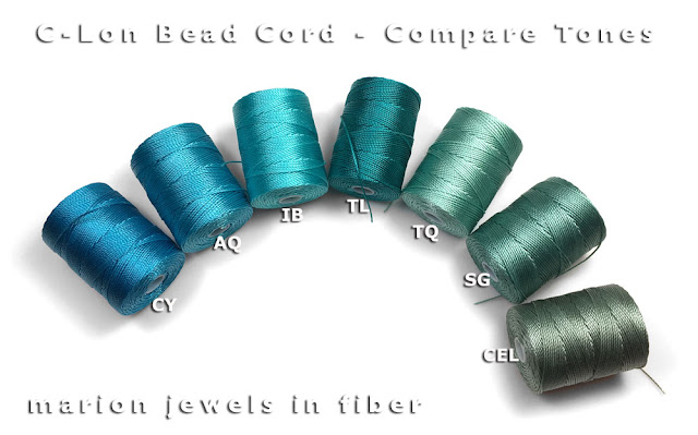 Compare C-Lon Bead Cord Colors