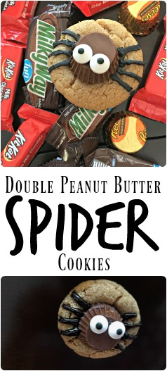 Double Peanut Butter Spider Cookies are the perfect family-friendly Halloween cookie treat