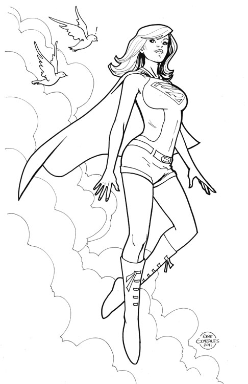 Gene Gonzales Sketches Amp Other Silly Stuff Supergirl