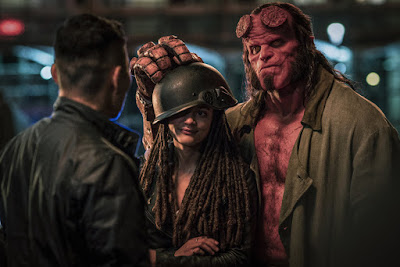 Daniel Dae-Kim, Sasha Lane, and David Harbour in Hellboy (2019)