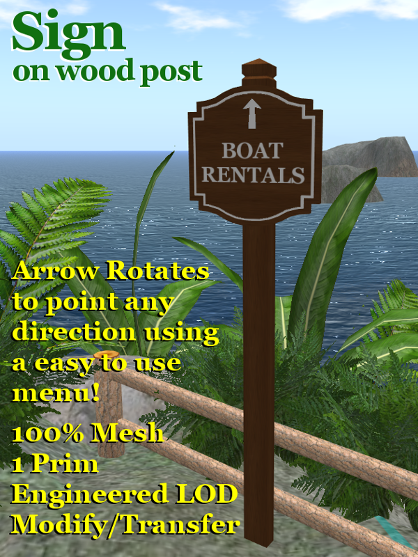 Leaf Illusion: Attractive Mesh Signs for Second Life and OpenSim Kitely