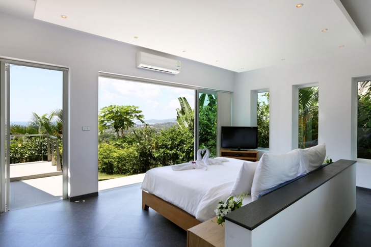 Open bedroom in Modern Villa Beyond in Phuket