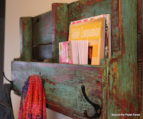 Coat hook and storage shelf perfect for an entryway or mudroom