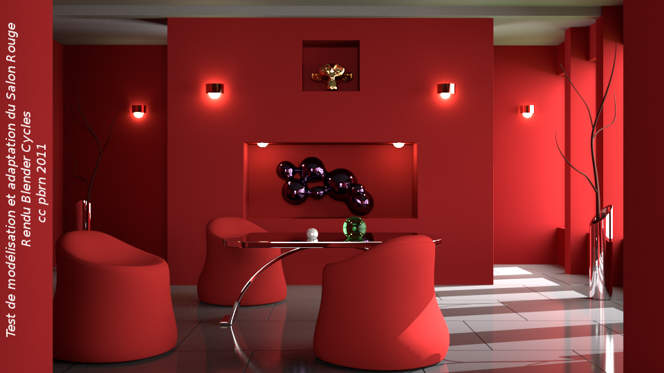 blender 4d mod lisation du salon rouge et rendu dans. Black Bedroom Furniture Sets. Home Design Ideas
