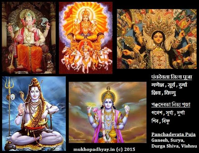 Nitya Puja Pancha Devata Ganesha Surya Durga Shiva Vishnu