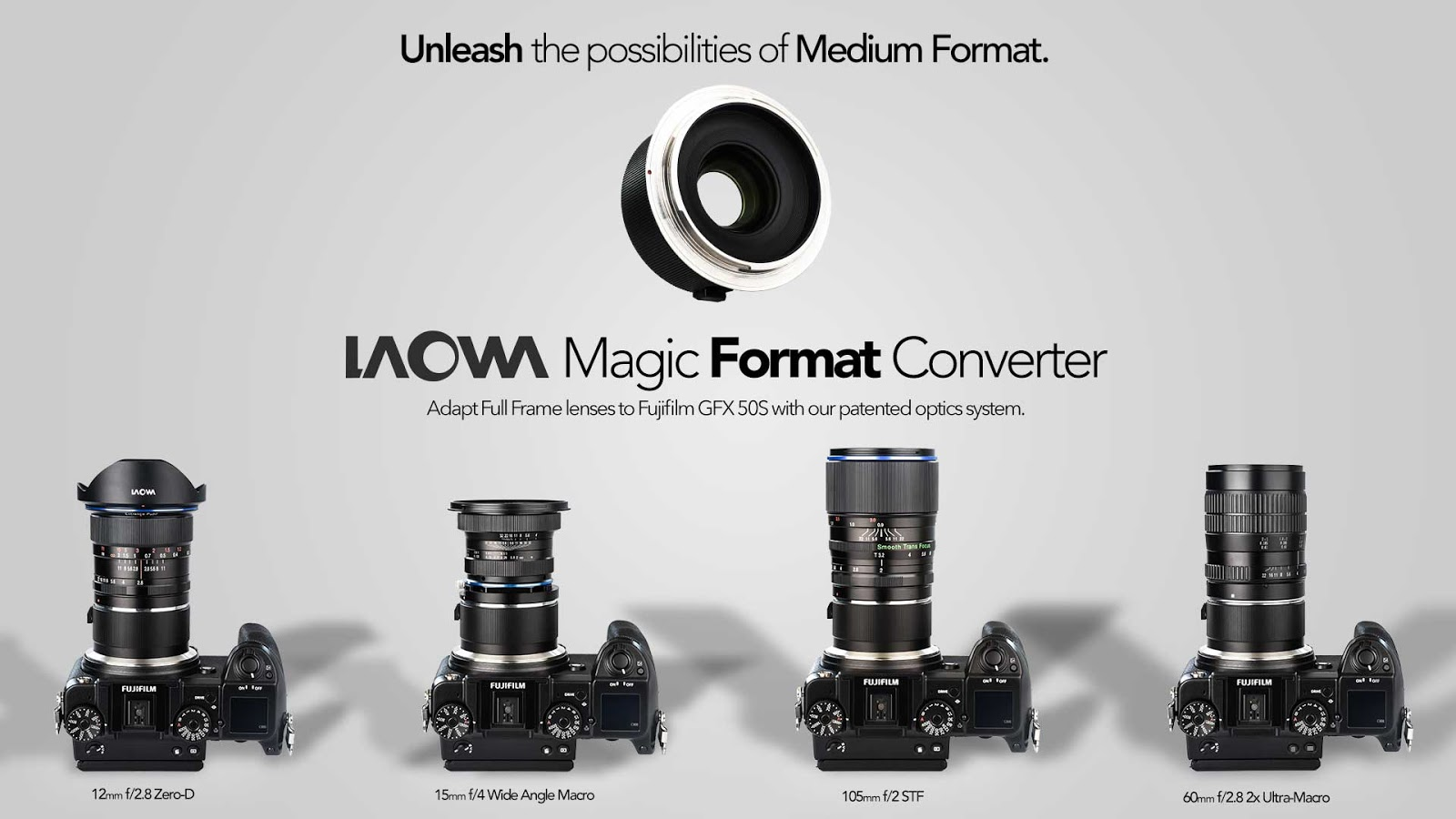 Адаптер Laowa Magic Format Converter для оптики Canon EF и Nikon AI