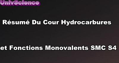Résumé Du Cour Hydrocarbures et Fonctions Monovalents SMC S4 PDF