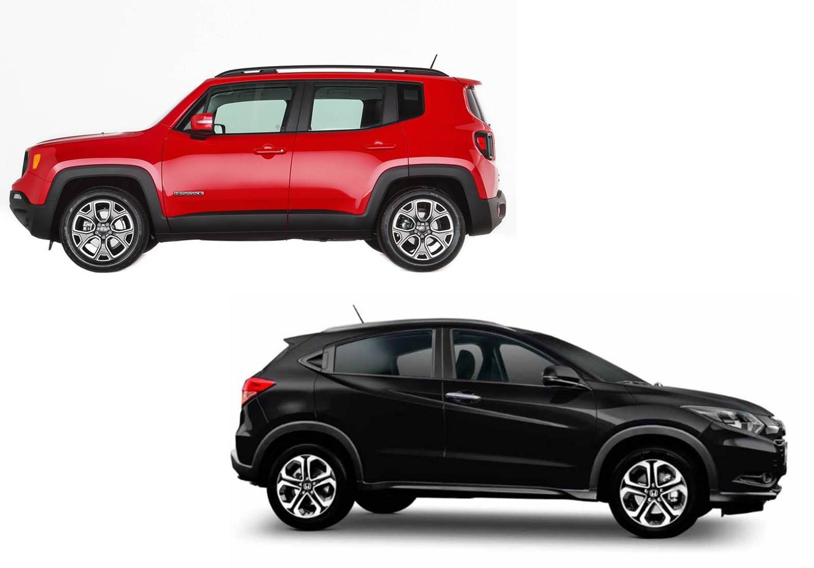 Jeep Renegade x Honda HR-V - lateral