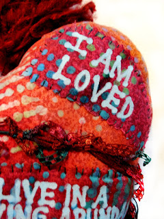 Word Art Affirmations on Love Lessons Folk Art Doll