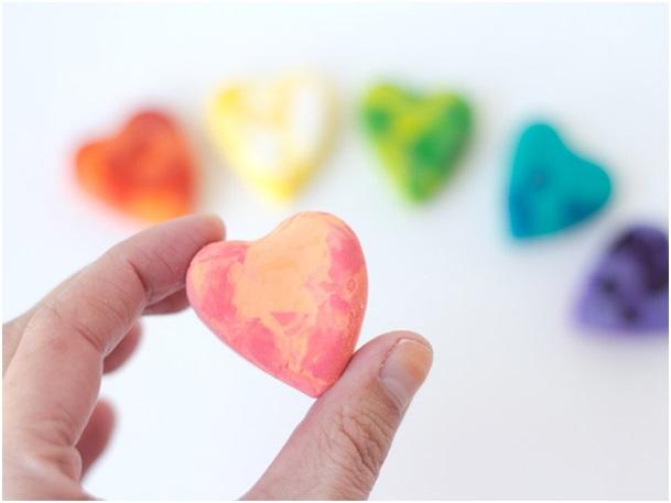 el yapımı pastel kalpler