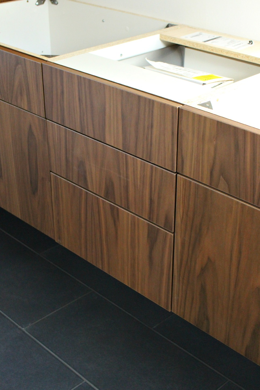 Walnut veneer cabinetry