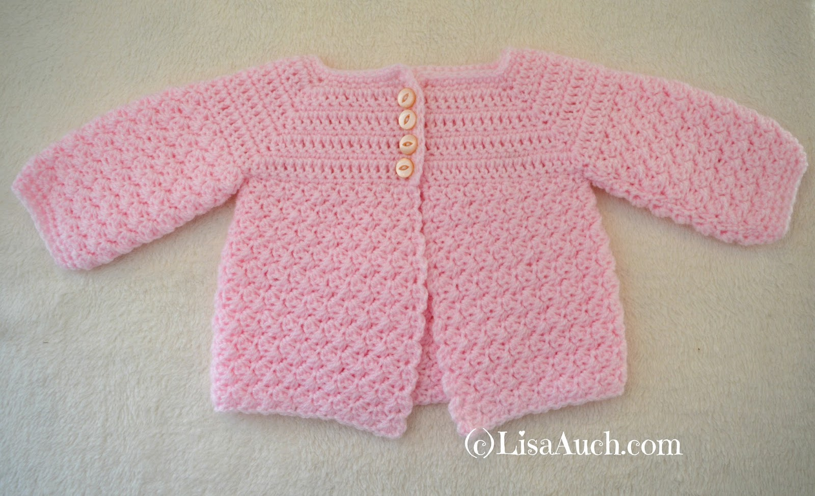 Crochet Patterns I Can Make And Sell : Crochet Baby Cardigan Easy Free Pattern FREE Crochet Patterns ...