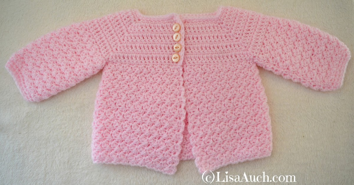 Easy Baby Cardigan Crochet Patterns For Beginners : Crochet Baby Cardigan Easy Free Pattern Free Crochet ...