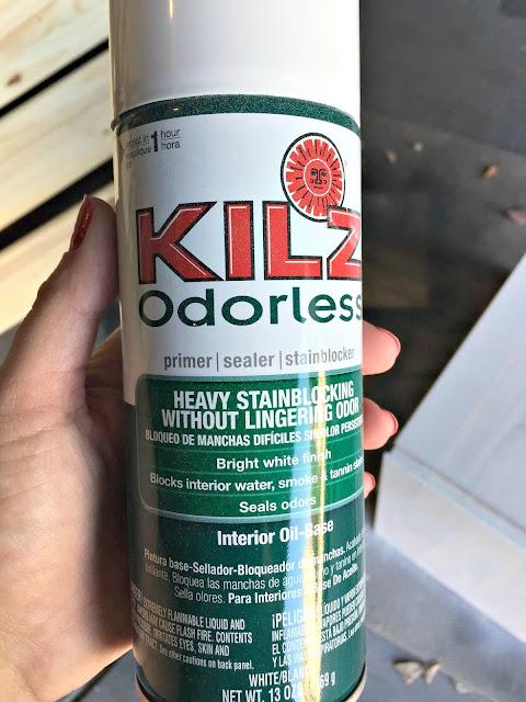 Kilz spray primer