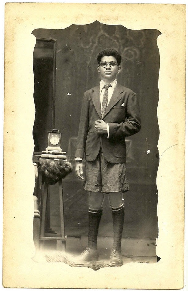 Well Dressed Indian Boy - Studio Photograph, Date Unknown