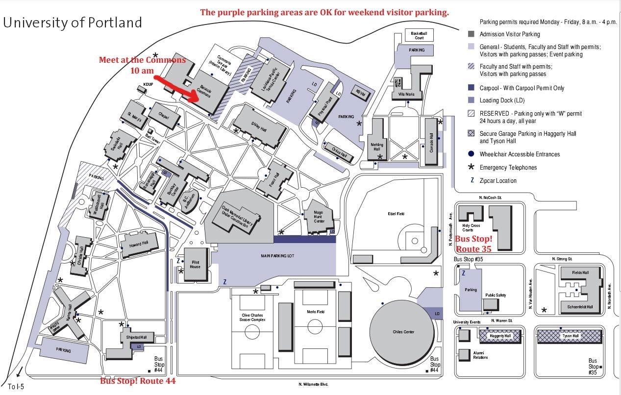 Une Portland Campus Map