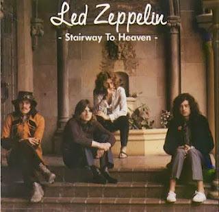 "Capa do single ""Stairway to Heaven""do grupo Led Zeppelin"