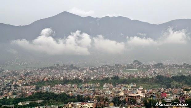 Swayambhunath, vista su Kathmandu