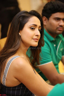 Pragya Jaiswal in Deep neck Gown at Launch of OPPO Phone 021