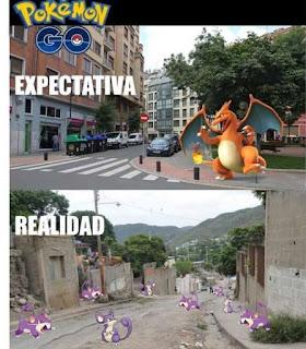 expectativa versus realidad pokemon go
