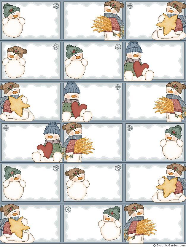 Etiqueta y tarjeta para los regalos Navidad