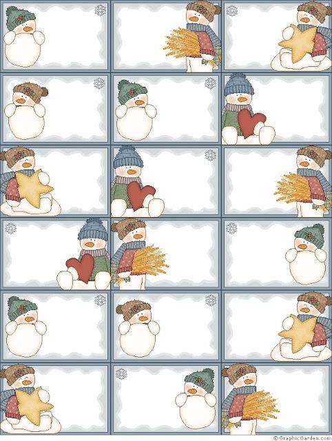 Decarga gratis plantilla etiqueta y tarjeta para los regalos