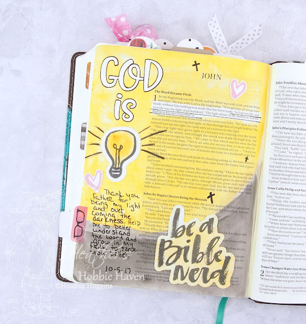 "Heather's Hobbie Haven - Illustrated Faith ""Word Nerd"" - Week 1"