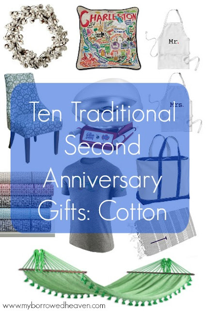 Borrowed Heaven Second Anniversary Gifts Cotton