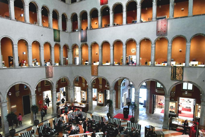 Wnętrze Fondaco dei Tedeschi